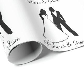 Papier Cadeau Épouser de deux jeunes mariées
