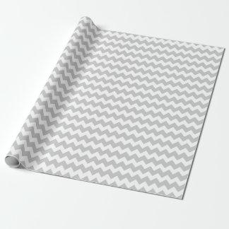 Papier Cadeau Épouser les rayures argentées de Chevron de zigzag