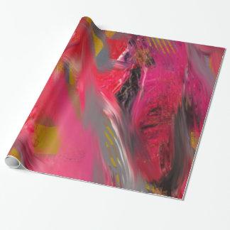 Papier Cadeau Éraflure urbaine : Rouge et rose