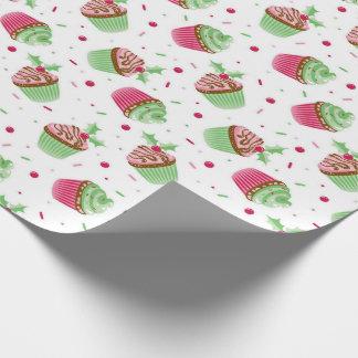 Papier Cadeau Et doux petit gâteau coloré par Noël mignon
