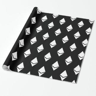 Papier Cadeau Ethereum sur le papier d'emballage foncé (logo