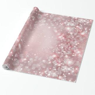 Papier Cadeau Étincelle assez rose