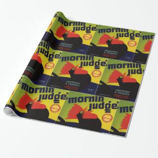 Papier Cadeau Étiquette de caisse de pamplemousse de juge de