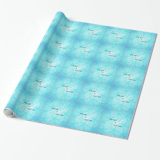 Papier Cadeau Étoiles de mer faites sur commande de turquoise de