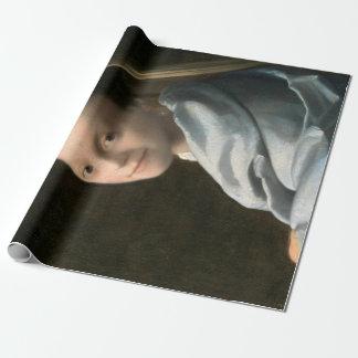 Papier Cadeau Étude de Johannes Vermeer d'une jeune femme