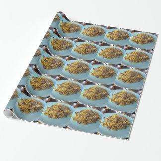 Papier Cadeau Fettuccine frais italien avec des champignons de