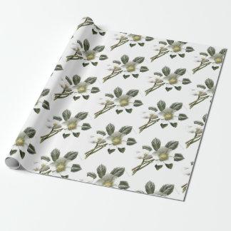 Papier Cadeau Fleur blanche vintage/victorienne