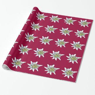 Papier Cadeau Fleur d'edelweiss
