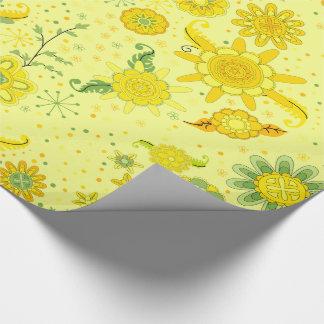 Papier Cadeau Fleurs assez jaunes