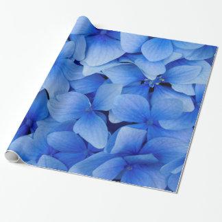 Papier Cadeau Fleurs bleues d'hortensia