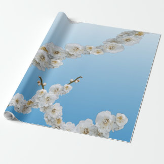 Papier Cadeau Fleurs de cerisier de la Corée blanches