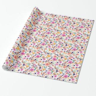 Papier Cadeau Fleurs d'été
