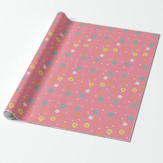 Papier Cadeau Fleurs tropicales