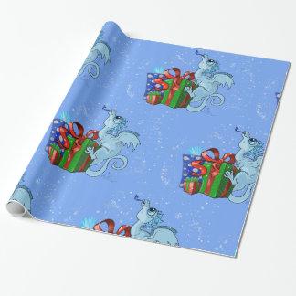 Papier Cadeau flocon de neige de dragon de lil