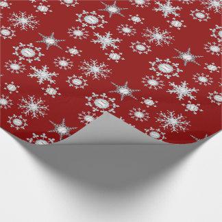 Papier Cadeau Flocons de neige de base-ball
