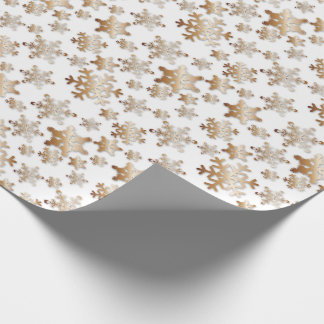 Papier Cadeau Flocons de neige de cuivre avec le papier