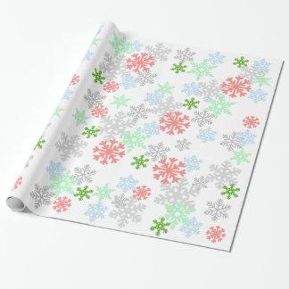Papier Cadeau Flocons de neige élégants