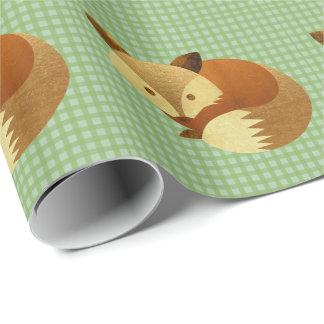Papier Cadeau Fox mignon d'automne