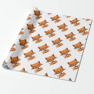 Papier Cadeau Fox orange