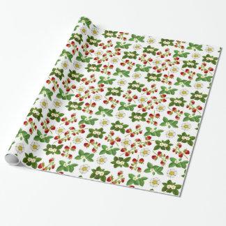 Papier Cadeau Fruit de fraise avec le papier d'emballage de