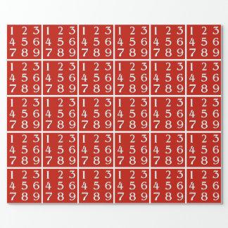 Papier Cadeau Génie de bourgeonnement de maths