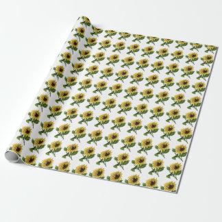 Papier Cadeau Giftwrap :  Tournesols