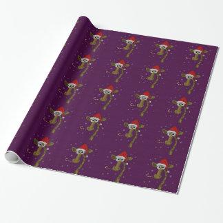 Papier Cadeau Girafe de Noël