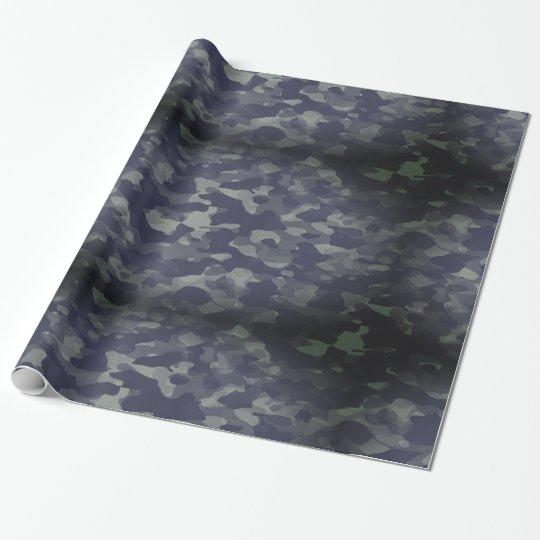 Papier cadeau glacé, 76,2 cm x 1,8 m Camouflage