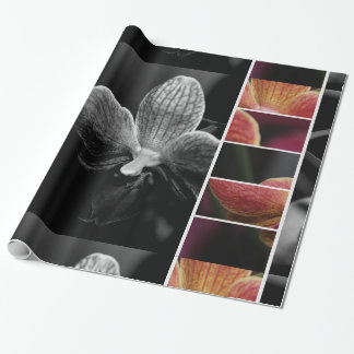 Papier cadeau glacé, Orchidée