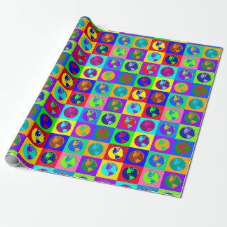 Papier Cadeau Globes colorés