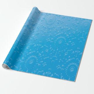 Papier Cadeau Gradient bleu de relief d'abrégé sur fleur