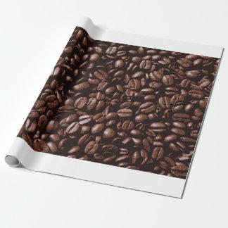 Papier Cadeau Grains de café délicieux frais de Brown