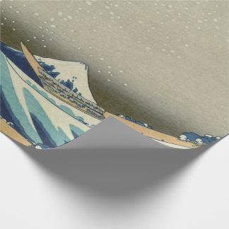 Papier Cadeau Grande vague japonaise outre de Kanagawa par