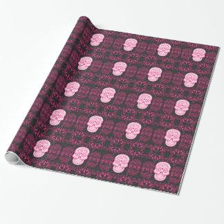 Papier Cadeau Grunge gothique de sucre de roses indien de roses
