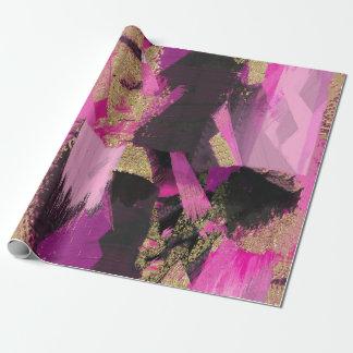 Papier Cadeau Grunge moderne de charme de brosse de parties