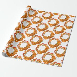 Papier Cadeau guirlande d'automne