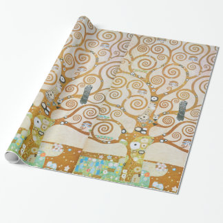 Papier Cadeau Gustav Klimt l'arbre de l'art Nouveau de la vie