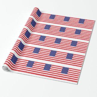 Papier Cadeau *Hand américain Sketch* de drapeau des Etats-Unis