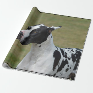 Papier Cadeau Harlequin great dane