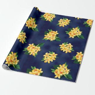 Papier Cadeau Hawaïen tropical de Plumeria de paradis