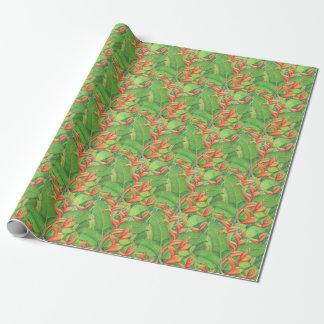 Papier Cadeau Heliconia hawaïen