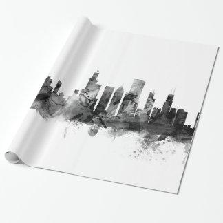 Papier Cadeau Horizon de Chicago l'Illinois