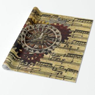 Papier Cadeau Horloges grunges et vitesses de Steampunk