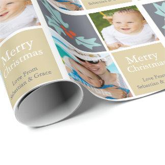 Papier Cadeau Houx personnalisé par Noël