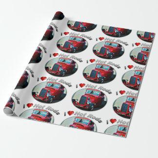 """Papier Cadeau I hot rod de coeur - papier d'emballage mat, 30"""" x"""