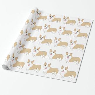 Papier Cadeau Illustration de chien de corgi de Gallois