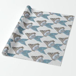 Papier Cadeau Illustration lunatique et adorable de poissons