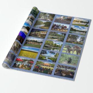 Papier Cadeau Images d'Ocala avec l'arrière - plan bleu