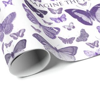 Papier Cadeau Imaginez les papillons de pourpre de possibilités