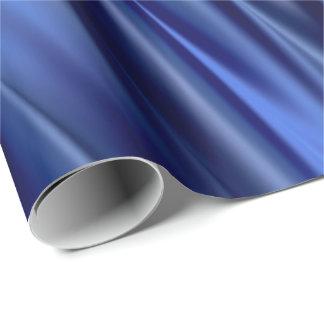 Papier Cadeau Indigo et rayures bleues violettes de style de